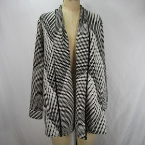 Chico's Travelers Textured Jacquard Jacket NWT